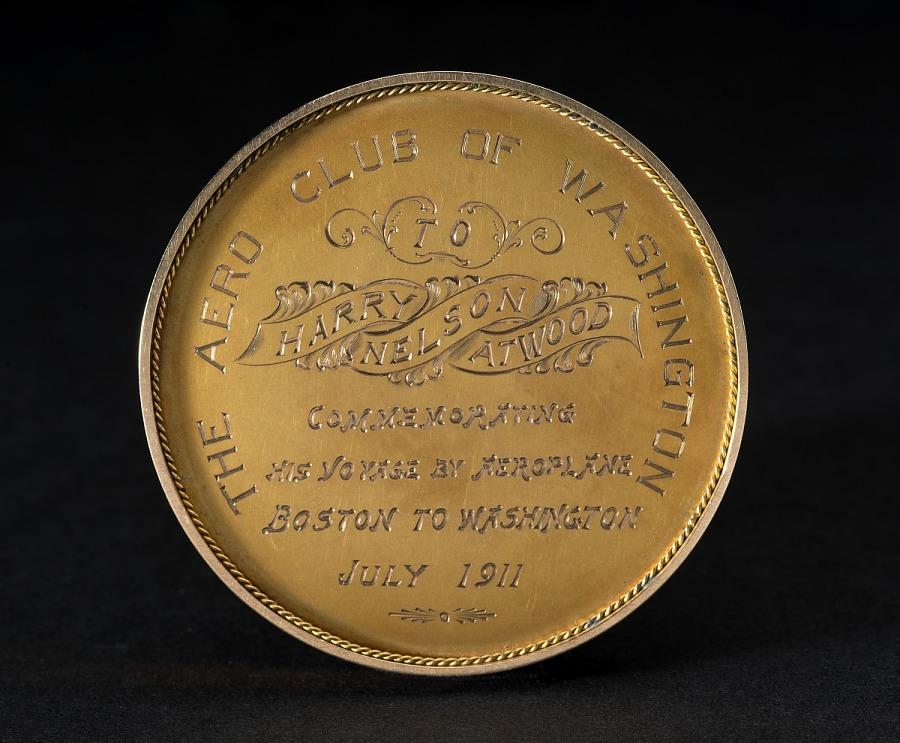 Medal, Commemorative, Boston to Washington, D.C., July 1911