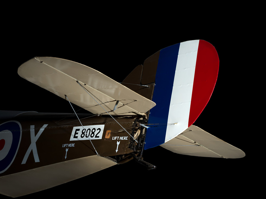 Blue, White, and Red Sopwith 7F.1 Snipe Vertical Stabilizer and Horizontal Stabilizer