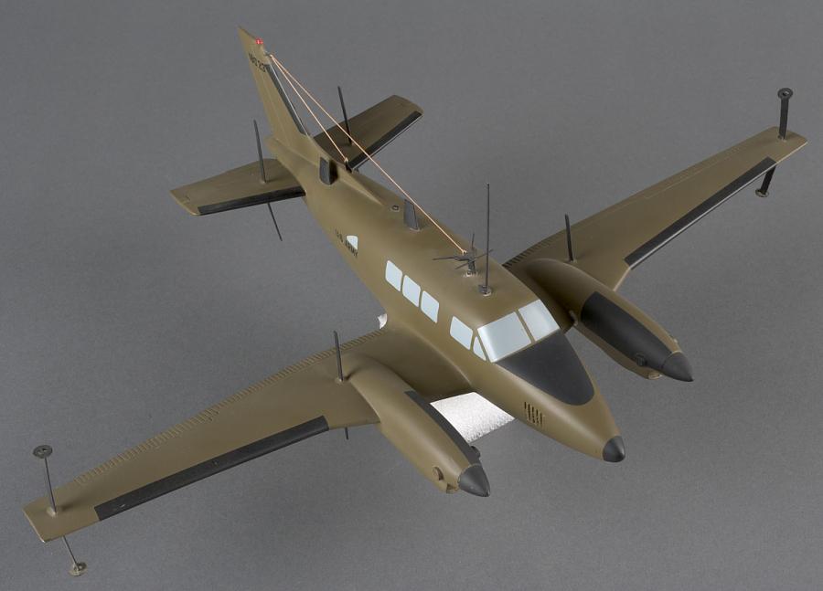 Model, Static, Beech RU-21D Guard Rail
