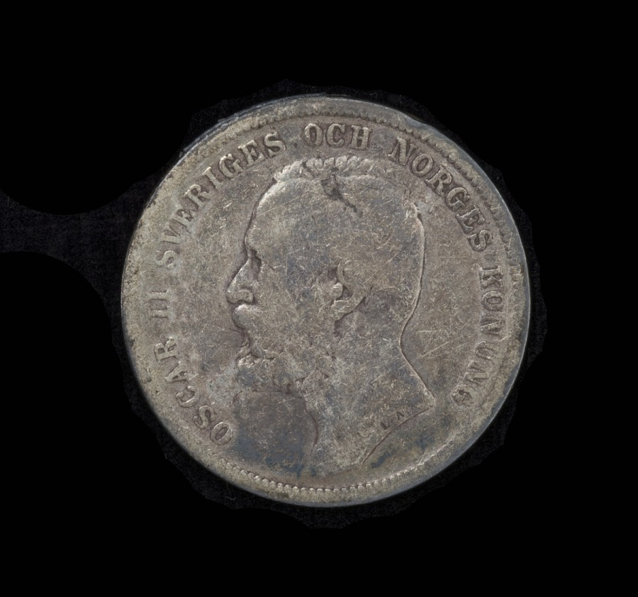 Coin, 1 Krona, United Kingdoms of Sweden and Norway, Lindbergh