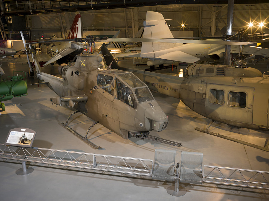 Bell AH-1F Cobra helicopter in museum