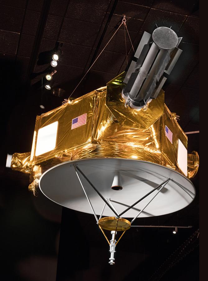 New Horizons Spacecraft Mock-up Model hanging in museum