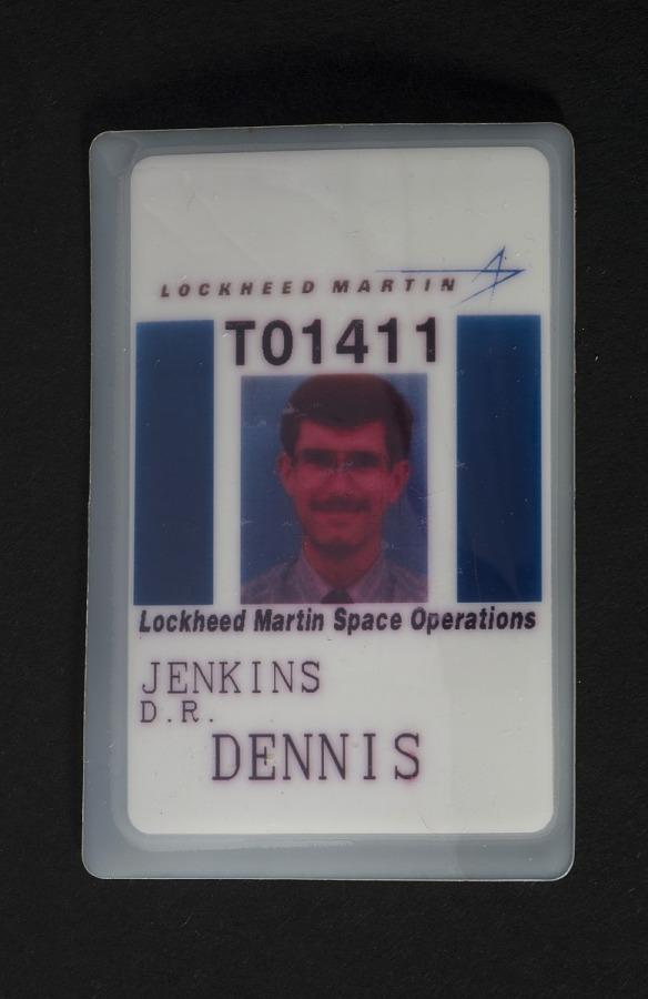 Badge, Identification, Lockheed Martin Space Operations, Dennis Jenkins
