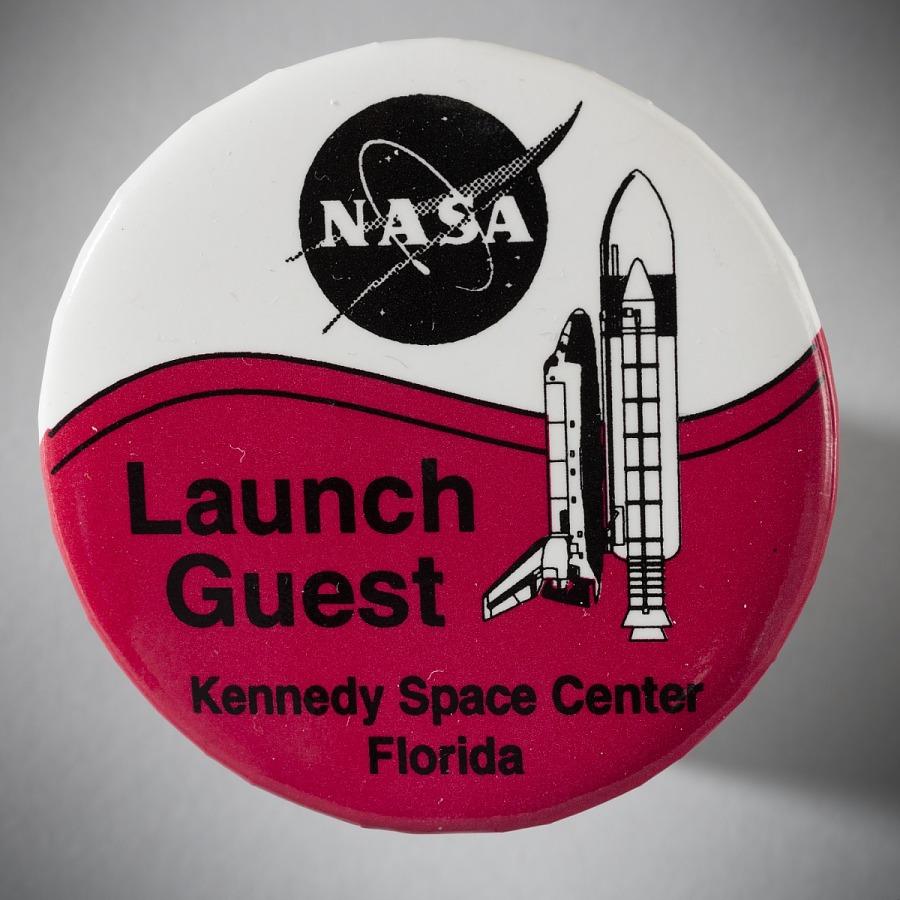 Button, Space Shuttle, 'Launch Guest'