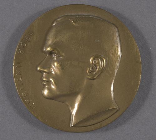 Medal, Hermann Kohl First West to East Atlantic Crossing