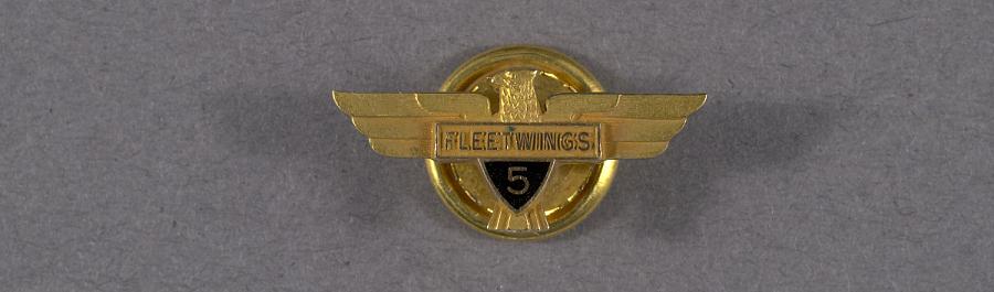 Pin, Lapel, Fleetwings 5 Years Service