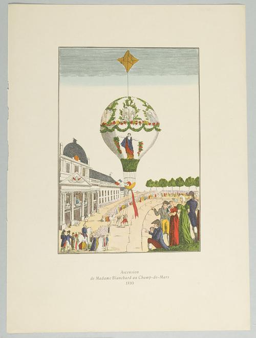 Ascension de Madame Blanchard au Champ-de-Mars 1810
