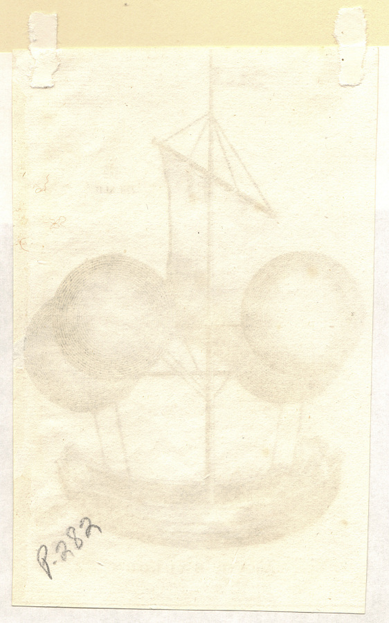 Print, Etching on Paper, Uncolored, AN AIR BALLOON INVENTED IN THE LAST CENTURY.