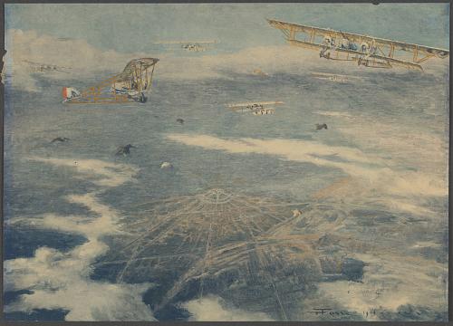 Bombardement de Karlsruhe par des avions Caudron bi-moteur – Mai 1916