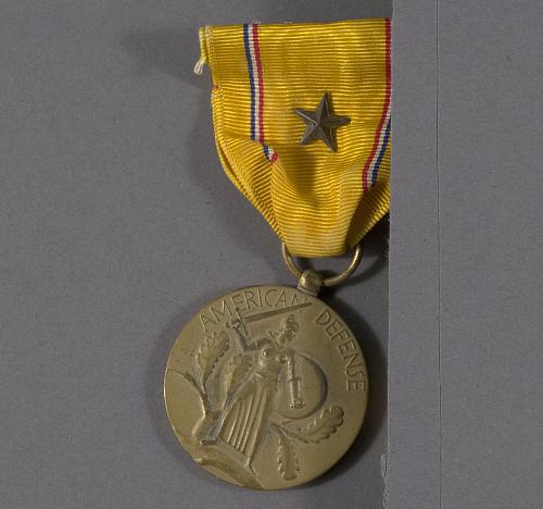 Medal, American Defense Service Medal, Bernt Balchan
