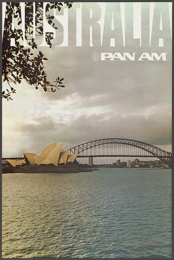 Poster, Advertising, Commercial Aviation, PAN AM AUSTRALIA