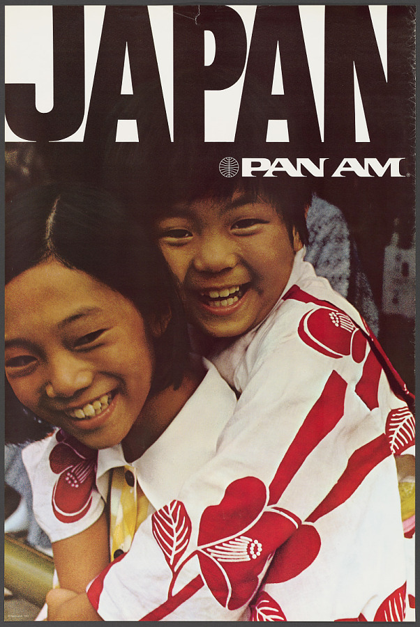 Poster, Advertising, Commercial Aviation, JAPAN - PAN AM