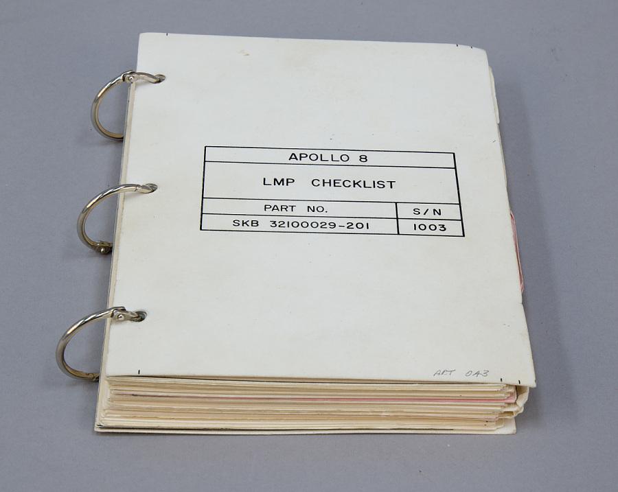 Checklist, Apollo 8, Anders, CHECKLIST, APOLLO 8, ANDERS