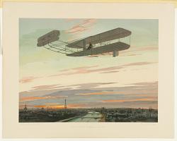 de Lambert in Wrightflieger über Paris
