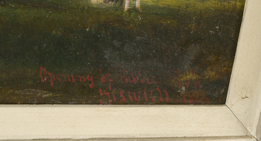 Painting, Oil on Wood Panel, OPENING OF PUBLIC PARK AT IPSWICH