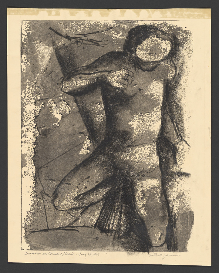 Drawing, Charcoal and Ink on Paper, Monoprint