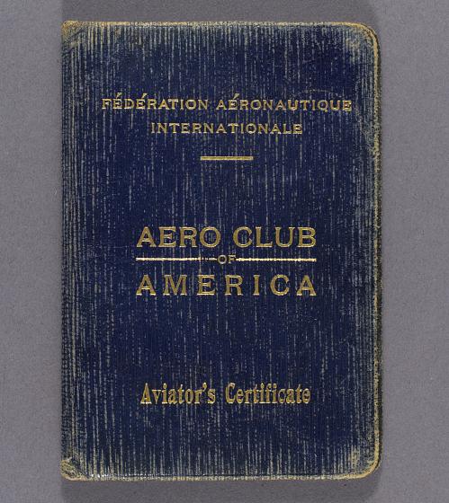 License, Pilot, Aero Club of America, James H. Doolittle