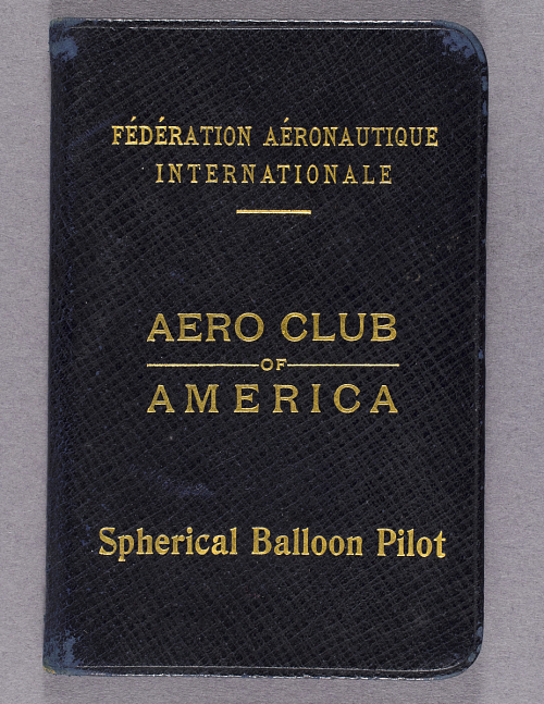 License, Balloon Pilot, M. Lester Witherup