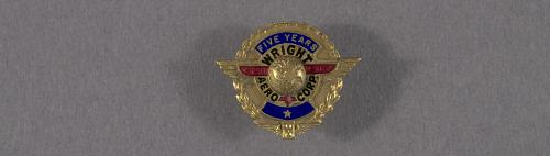 Pin, Lapel, 5 Years Service, Wright Aeronautical Corp.