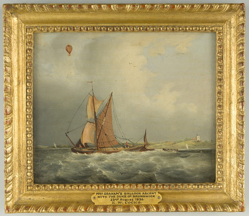 Mrs. Graham's Balloon Ascent with the Duke of Brunswick, 22nd August 1836.
