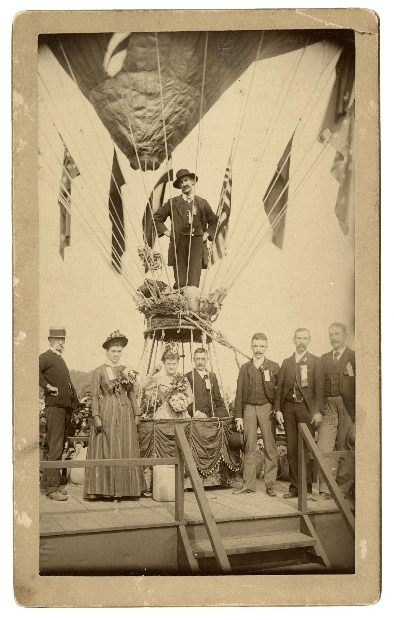 images for LTA, Balloons, USA, Allen (James), Balloon Wedding (1888) (Krainik Coll). photograph