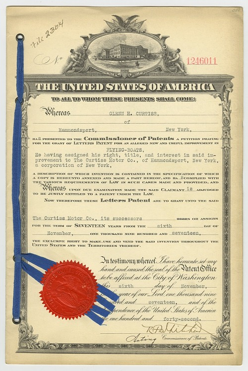 Curtiss-Wright Corporation Records - Patent Files