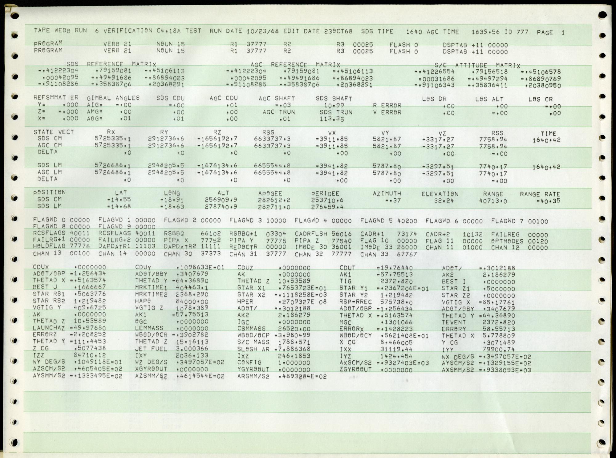 Apollo Flight Guidance Computer Software Collection Hamilton