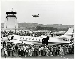"Reading Air Show (Reading, PA, 1939-1980); Lighter than Air (LTA), Airships, USA, Goodyear, ""Mayflower"" N1A, General; Swearingen Merlin IV. [photograph]"