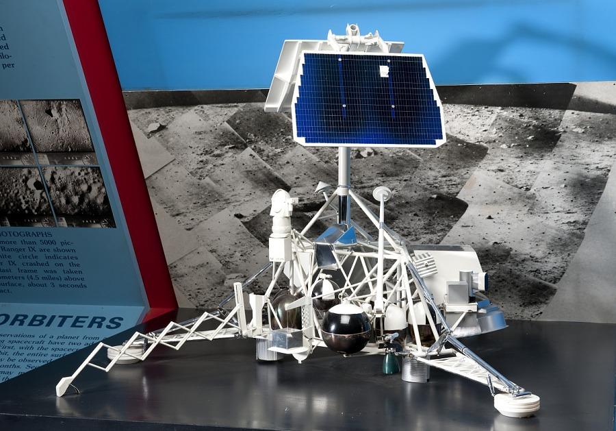 Model, Lunar Lander, Surveyor, 1/5 Scale