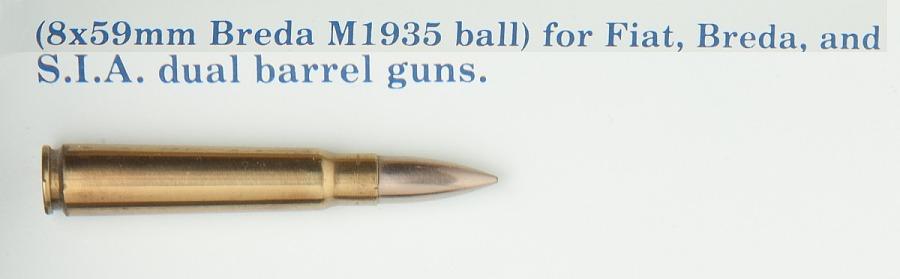 Cartridge, Ball, 8 x 59mm, Breda M1935