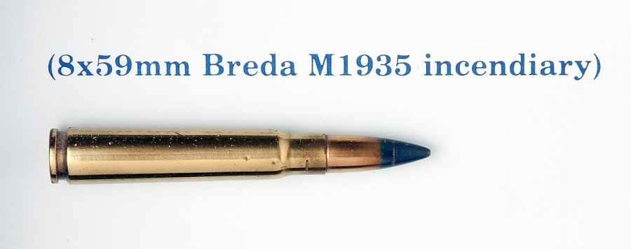 Cartridge, Incendiary, 8 x 59mm, Breda M1935