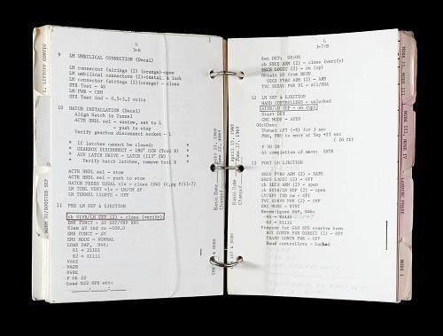 Checklist, Launch Operations, Apollo 11