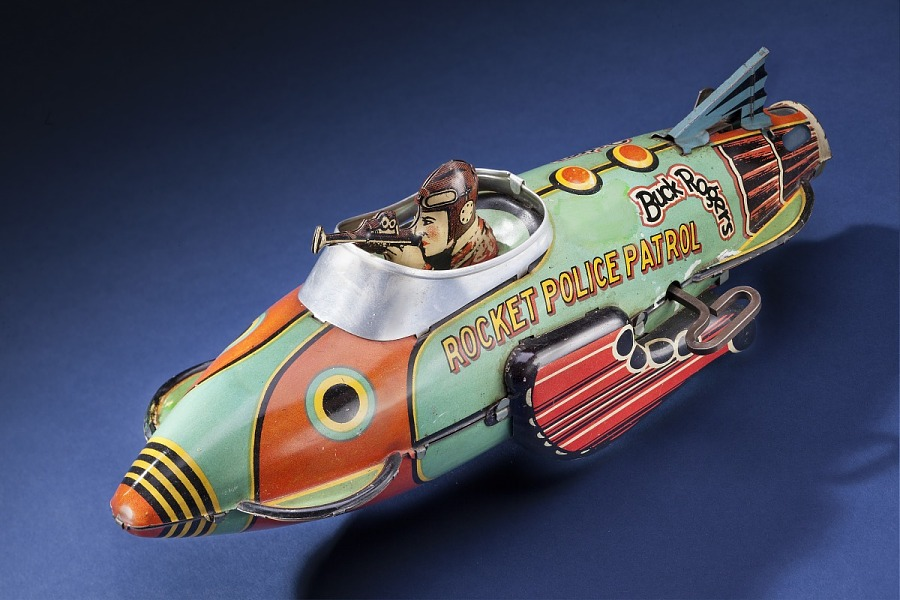 Toy, Space Ship, Buck Rogers, Rocket Police Patrol Ship