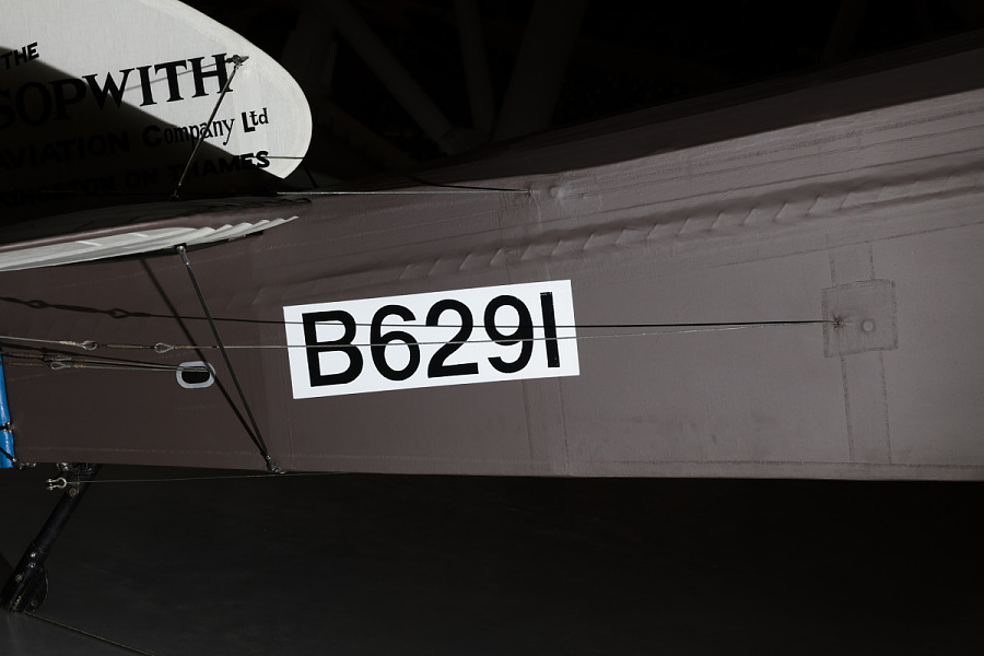 Metal Sopwith F.1 Camel Fuselage with label