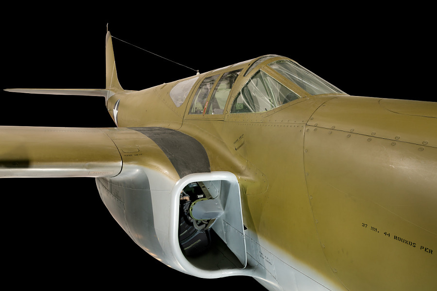 Bell XP-59A Airacomet Cockpit and Jet Intake