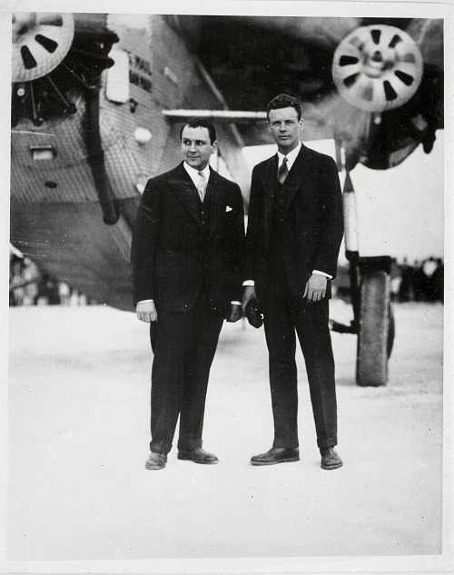 Lindbergh, Charles Augustus; Trippe, Juan Terry; Pan American Airways (PAA); Fokker F-10 Super TriMotor (TriMotor Deluxe, F-X, F-Ten). photograph