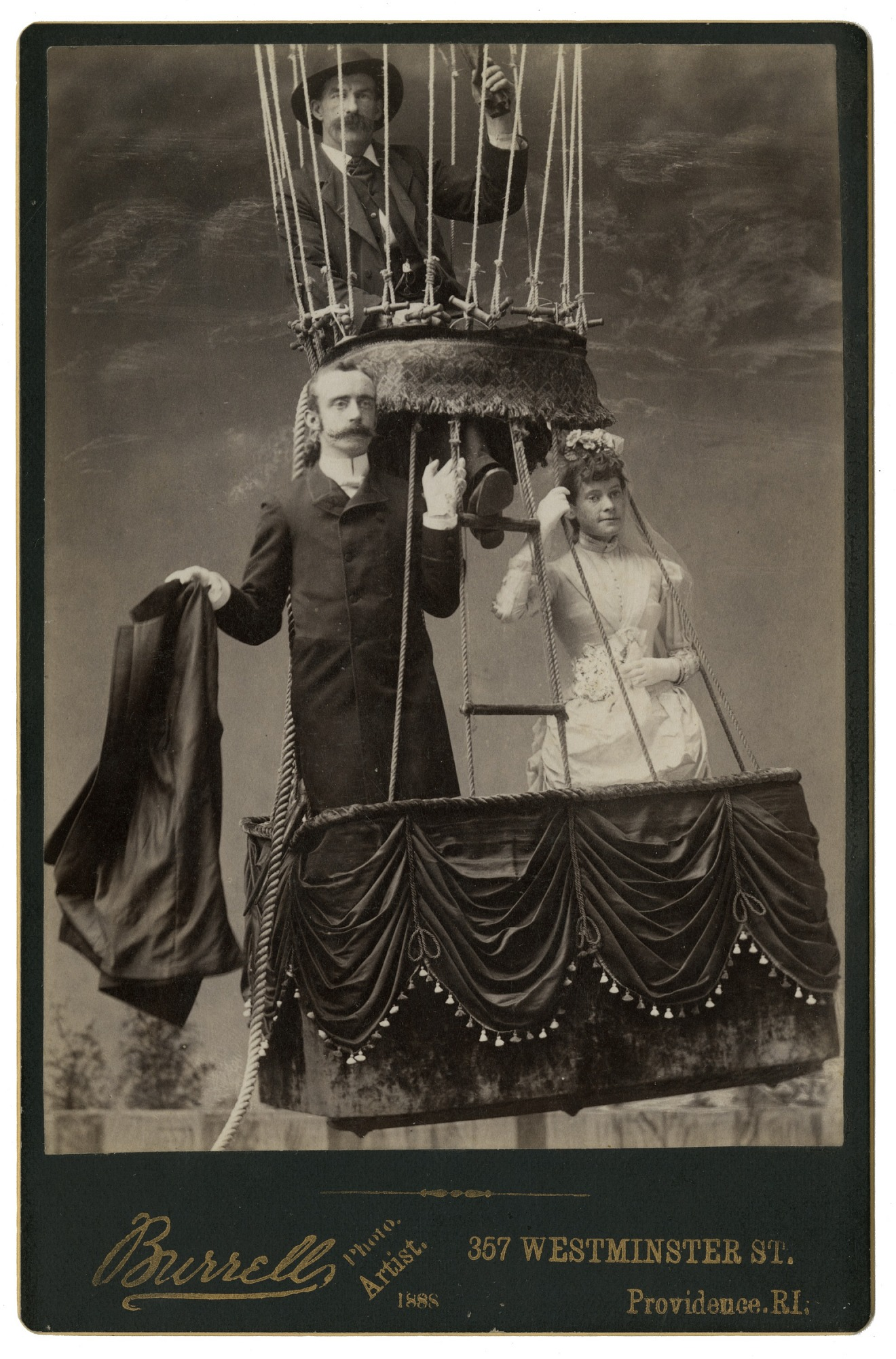 images for LTA, Balloons, USA, Allen (James), Balloon Wedding (1888) (Krainik Coll). photograph