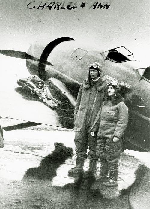 "Lindbergh, Charles Augustus; Lindbergh, Anne Morrow; Lockheed Model 8 Sirius (later ""Tingmissartoq""). photograph"