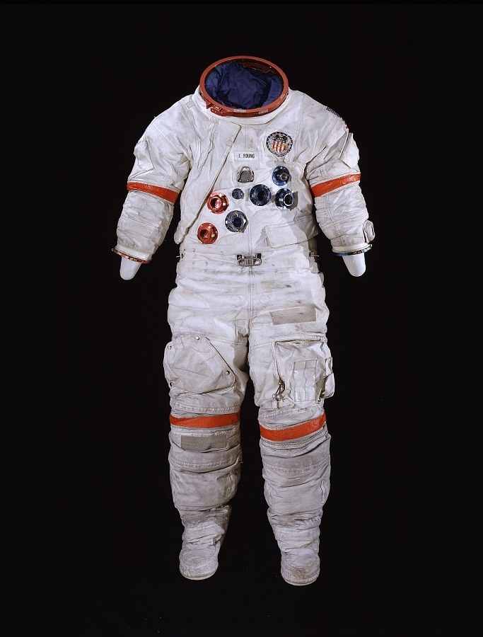 Pressure Suit, A7-LB, Young, Apollo 16, Flown