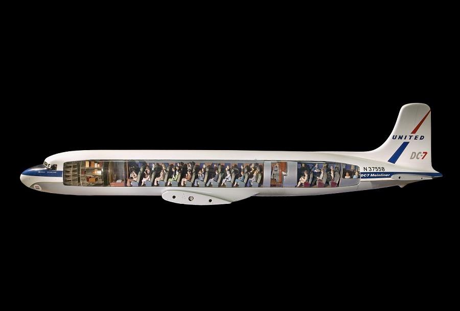 Model, Static, Douglas DC-7 Mainliner, United Air Lines