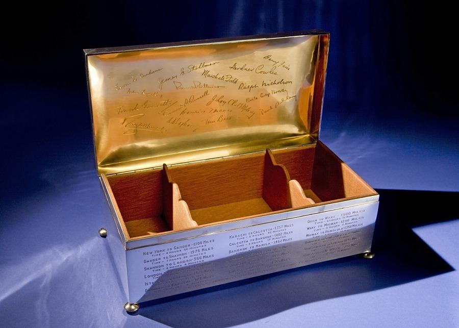 Cigar Box, Commemorative, Juan Trippe