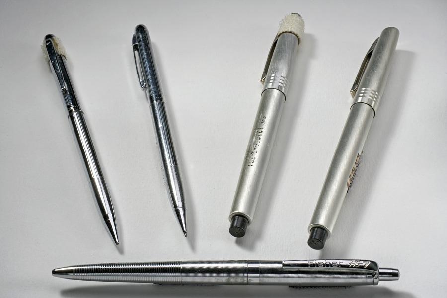 Michael Collins' set of five Apollo 11 Garland 35-P Mechanical Pencil
