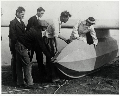 Lindbergh, Anne Spencer Morrow; Lindbergh, Charles Augustus; Bowlus (Hawley) Sailplane Co, General. photograph