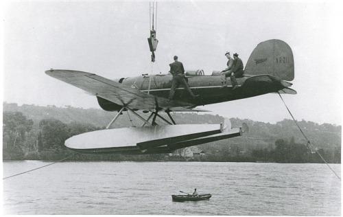 "Lockheed Model 8 Sirius ""Tingmissartoq""; Lindbergh, Charles Augustus. photograph"