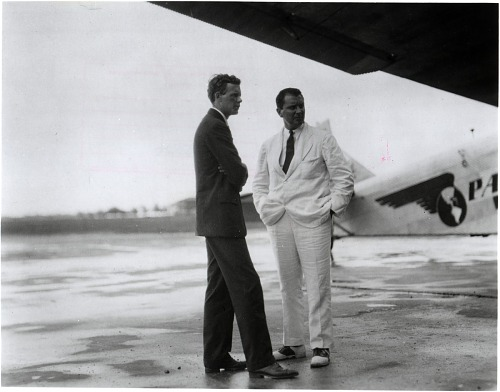 Lindbergh, Charles Augustus; Trippe, Juan Terry; Airlines, Pan American Airways (Pan Am) (USA), 1920s. photograph