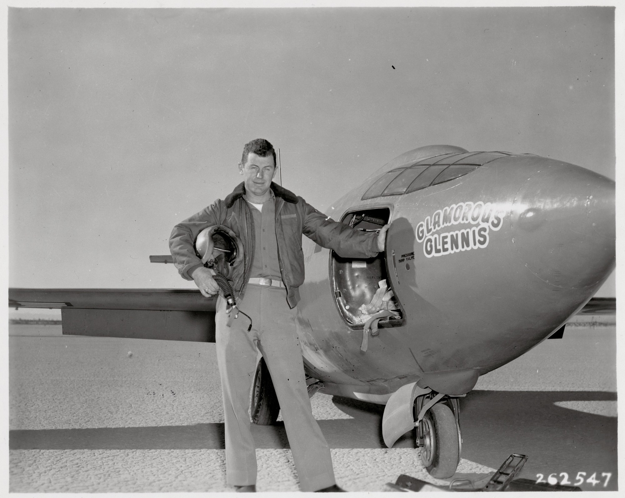 """images for Yeager, Charles Elwood """"Chuck""""; Bell X-1 """"Glamorous Glennis"""". photograph"""