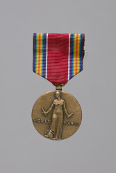 World War II Victory service medal awarded to Lorenzo DuFau