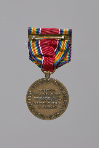 Image for World War II Victory service medal awarded to Lorenzo DuFau