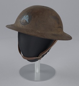 images for Combat helmet from World War I used by the 93rd Infantry Division-thumbnail 2
