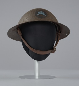 images for Combat helmet from World War I used by the 93rd Infantry Division-thumbnail 3